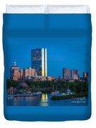 Boston By Night Duvet Cover