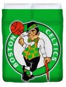Boston Celtics Canvas Duvet Cover by Dan Sproul