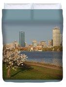 Boston Charles River On A Spring Day Duvet Cover