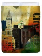 Boston City Collage 2 Duvet Cover by Corporate Art Task Force