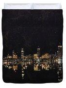 Boston City Skyline 2 Duvet Cover