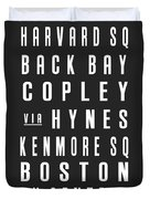 Boston City Subway Duvet Cover