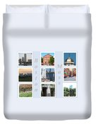 Boston Collage Duvet Cover