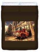 Boston Fire Truck  Duvet Cover