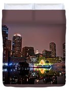 Boston Harbor At Night  Duvet Cover