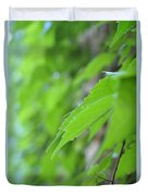 Boston Ivy Bokeh Duvet Cover