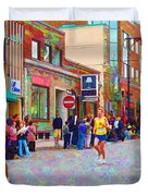 Boston Marathon Mile Twenty Two Duvet Cover