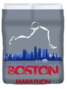 Boston Marathon3 Duvet Cover