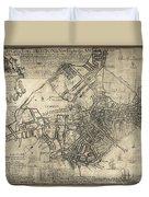 Boston Of British Dominion Map  1769 Duvet Cover
