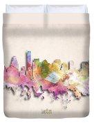 Boston Painted City Skyline Duvet Cover