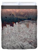 Boston Panorama Abstract 3 Duvet Cover