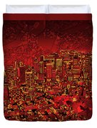Boston Panorama Red Duvet Cover