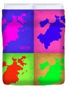 Boston Pop Art Map 1 Duvet Cover