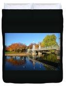 Boston Public Garden Autumn Duvet Cover