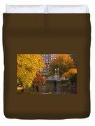 Boston Public Garden Lagoon Bridge Duvet Cover