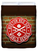 Boston Red Sox 1915 World Champions Duvet Cover by Stephen Stookey