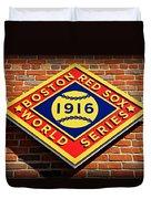 Boston Red Sox 1916 World Champions Duvet Cover