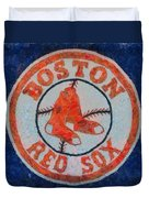 Boston Red Sox Duvet Cover by Dan Sproul