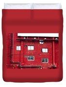 Boston Red Wall Duvet Cover