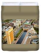 Boston Rooftops Duvet Cover