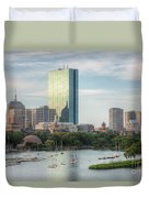 Boston Skyline I Duvet Cover