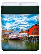 Boston Tea Party Museum Duvet Cover