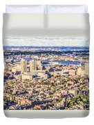 Boston Usa Elevated View Duvet Cover
