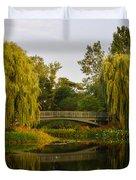 Botanic Garden Bridge At Dusk Duvet Cover