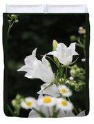 Botanical Beauty In White Duvet Cover