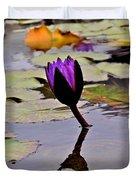 Botanical Garden Lotus Flowers Duvet Cover