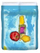 Bottle Apple And Lemon Duvet Cover