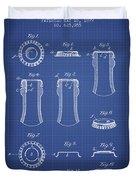 Bottle Cap Patent 1899- Blueprint Duvet Cover