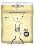 Bottle Neck Patent From 1891 - Vintage Duvet Cover