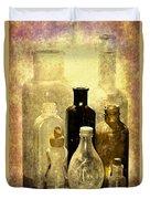 Bottles From The Past Duvet Cover