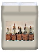 Bottles In Baskets Duvet Cover