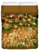Bottles In The Wall Duvet Cover