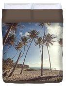Bottom Bay Tropical Beach In Barbados Caribbean Duvet Cover