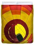 Bottoms Up Hot Air Balloon Duvet Cover