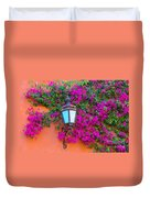 Bougainvillea And Lamp, Mexico Duvet Cover