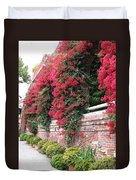 Bougainvillea Wall In San Francisco Duvet Cover