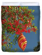 Boughs Of Holly Duvet Cover