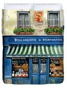 Boulangerie De Montmartre Duvet Cover