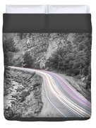 Boulder Canyon Drive And Selective Commute  Duvet Cover