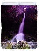 Boulder Cave Falls  Duvet Cover