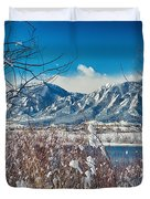 Boulder Colorado Winter Season Scenic View Duvet Cover