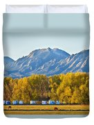 Boulder County Colorado Flatirons Autumn View Duvet Cover