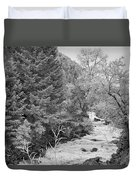 Boulder Creek Winter Wonderland Black And White Duvet Cover