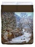 Boulder Creek Winter Wonderland Duvet Cover