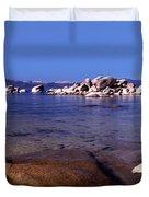 Boulders At The Coast, Lake Tahoe Duvet Cover