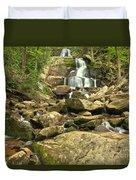 Boulders Logs And Lower Laurel Falls Duvet Cover